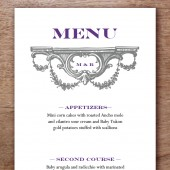 Manor Printable Wedding Menu