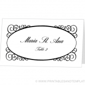 Place Card Template - Maria Design