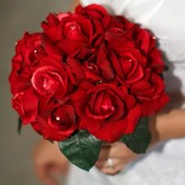 Mary - Real Touch Rose bouquet with Swarvoski Crystals