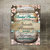 Rustic Mason Jar Bridal Shower Invitation