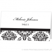 Place Card Template - Melanie Design