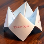 Cootie Catcher Wedding Menu