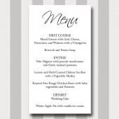 Menu Card Template - Simple