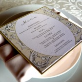 Square wedding menu