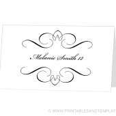 Place Card Template - Mikaela Design