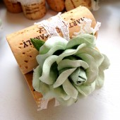 Mint Wedding Place Card Holder