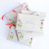 Mint and Coral Bridesmaid Clutches