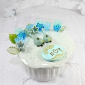 Mint Beach - Personalized birds Wedding cake topper