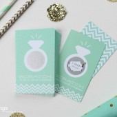 Mint Bridal Shower Ring Scratch-Off Game