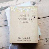 Keepsake Wedding Journal with customized cover
