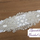 Mo Bridal Sash - SparkleSM Bridal Sashes