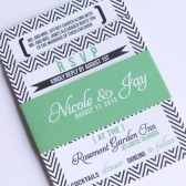 Modern Bold Chevron Invitation Suite