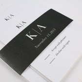 Modern Monogram Invitation – Kimberly