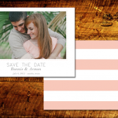 Modern Striped Save the Date