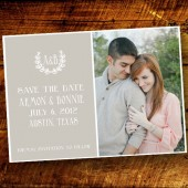 Modern Wreath Save the Date