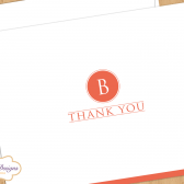 Monogram Wedding Thank You Card - Personalized