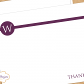 Monogram Wedding Thank You Card