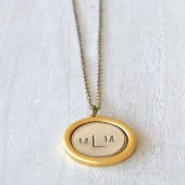 MONOGRAM COIN NECKLACE
