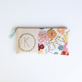 Wreath Motif Monogram Clutch