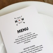Wedding Menu Template - Monogram Arrows