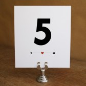 Printable Table Number - Monogram Arrows