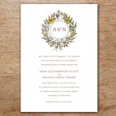 Monogram Printable Wedding Invitation