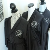 Monogrammed initial Robe