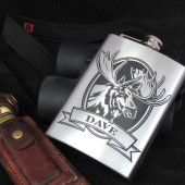 Personalized Moose Flask Gift for Groomsmen
