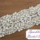 Morgan Bridal Sash - SparkleSM Bridal Sashes