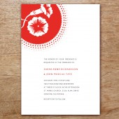 Morning Glory Printable Wedding Invitation