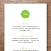 Morning Glory Printable Wedding Menu