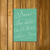 Moss Calligraphy Save the Date