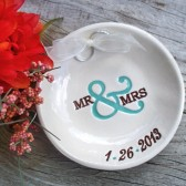 Mr & Mrs Custom Ring Bearer Bowl