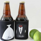 Mr and Mrs drink Coozie