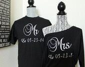 Mr and mrs shirt set