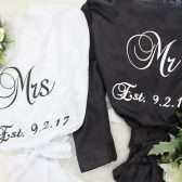 Mr and Mrs robes