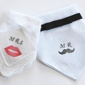Mr&Mrs Wedding Hankies