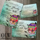 Muerte Sugar Skull Day of the Dead Digital Printable Wedding Invitation