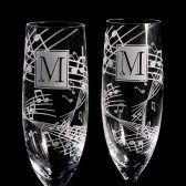 Music Champagne Flutes