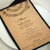 Music Wedding Menu