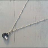 Mystic Blue Drop Necklace