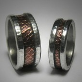 Rustic Wedding Band set
