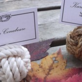 Nautical Wedding - 20 Nautical Rope Table Number Holders - Set of 20 little wedding knots - great for that beach wedding