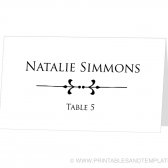 Place Card Template - Natalie Design