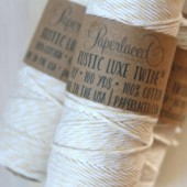 Natural + White Rustic Luxe Twine