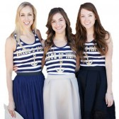 Wedding Party Nautical Tanks