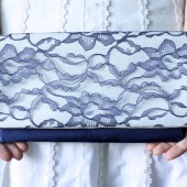 blue bridesmaid clutch