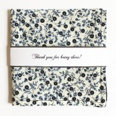 Navy Floral Reversible Pocket Square