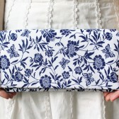 Navy Floral Bridesmaid Clutch