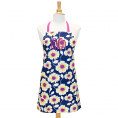 Navy Monogrammed Apron